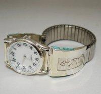 ココペリのシルバー腕時計メンズ Leonard Jim