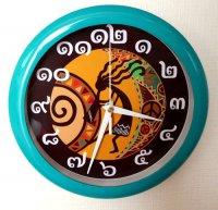 ココペリの壁掛け時計 ブルーグリーン