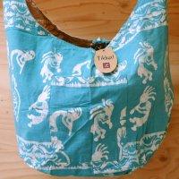 Tikka!ココペリの草木染のバッグ ブルー