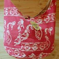 Tikka!ココペリの草木染のバッグ 赤