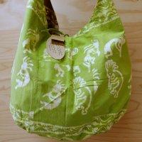 Tikka!ココペリの草木染のバッグ 黄緑