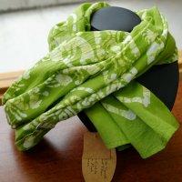 Tikka!ココペリの草木染のストール 黄緑