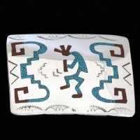 ココペリのバックル シルバー ナバホ