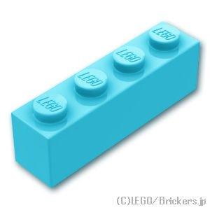 ブロック 1 x 4:[Md,Azure / ミディアムアズール]