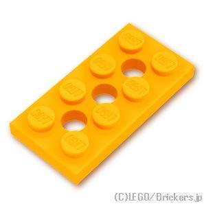 テクニック プレート 2 x 4 - 穴あき:[Bt,Lt Orange / ブライトライトオレンジ]