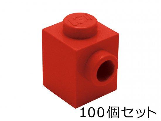 ブロック 1 x 1 - 1面スタッド:[Red / ...