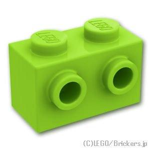 ブロック 1 x 2 - 1面スタッド:[Lime / ライム]