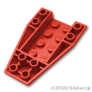 ウェッジ 6 x 4 - 逆3面カーブ:[Red / レッド]