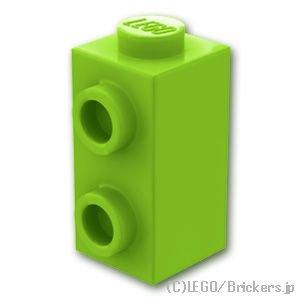 ブロック 1 x 1 x 1 2/3 - 1面スタッド:[Lime / ライム]