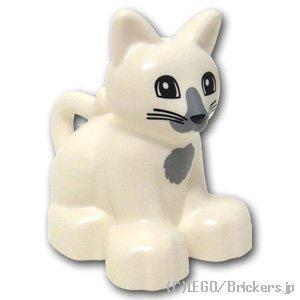 デュプロ 猫 グレーパターン:[White / ...
