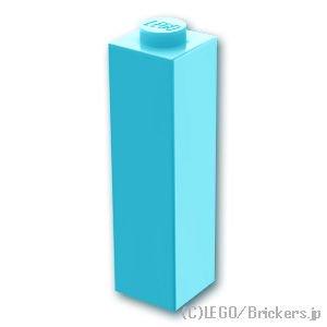 ブロック 1 x 1 x 3:[Md,Azure / ミディアムアズール]
