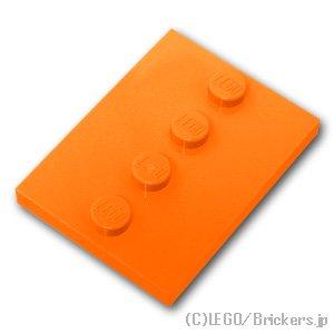 ミニフィグスタンド - タイル 4 x 3 センタースタッド:[Orange / オレンジ]