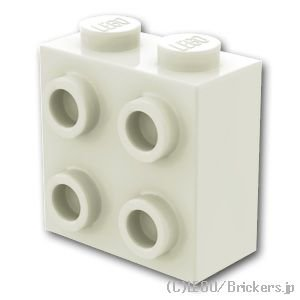 ブロック 1 x 2 x 1 2/3 1面スタッド:[White / ホワイト]