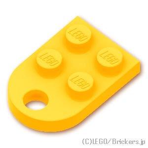 プレート 3 x 2 - 穴付き:[Bt,Lt Orange / ブライトライトオレンジ]