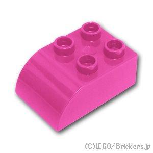 デュプロ ブロック 2 x 3 カーブトップ:[Dark Pink / ダークピンク]