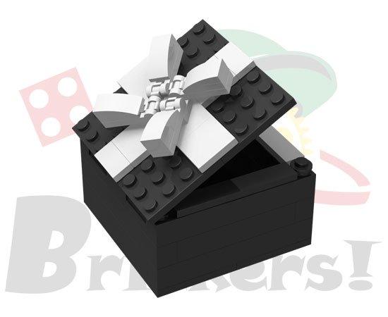 オリジナルセット/ギフトボックス型小物入れ(黒x白)【BROS053c】