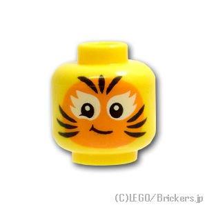 ミニフィグ ヘッド - オレンジの猫のフェイスペイント