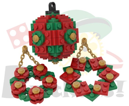 クリスマスオーナメントセット(赤x緑)