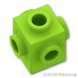 ブロック 1 x 1 - 4面スタッド:[Lime / ライム]