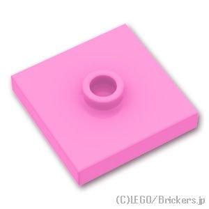 タイル 2 x 2 - センタースタッド:[Bright Pink / ブライトピンク]
