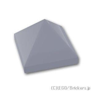 スロープ 45°- 1 x 1 x 2/3 ピラミッド:[Light Bluish Gray / グレー]