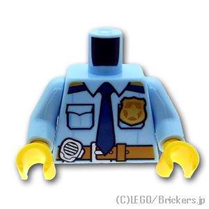 トルソー - ラジオとネクタイとベルトのポリスシャツ:[Bt,Lt Blue / ブライトライトブルー]