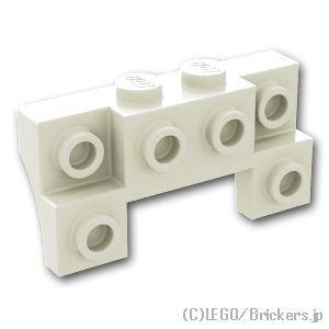 ブロック 2 x 4 / 1 x 4 - サイドアーチ:[White / ホワイト]