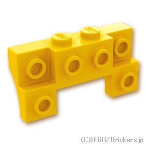 ブロック 2 x 4 / 1 x 4 - サイドアーチ:[Yellow / イエロー]