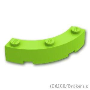 ブロック ラウンドコーナー 4 x 4 - マカロニ:[Lime / ライム]