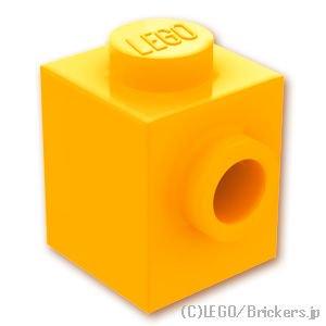 ブロック 1 x 1 - 1面スタッド:[Bt,Lt Orange / ブライトライトオレンジ]