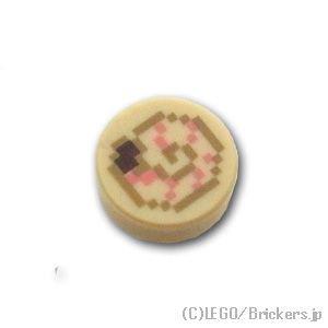 ラウンド 1 x 1 - マインクラフト オウムガイの殻:[Tan / タン]