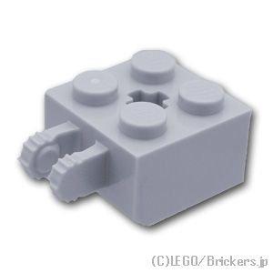 ヒンジ ブロック 2 x 2 ロックキャッチ - 7歯パターン:[Light Bluish Gray / グレー]