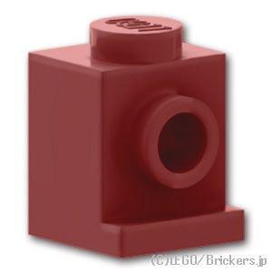 ブロック 1 x 1 - ヘッドライト:[Dark Red / ダークレッド]