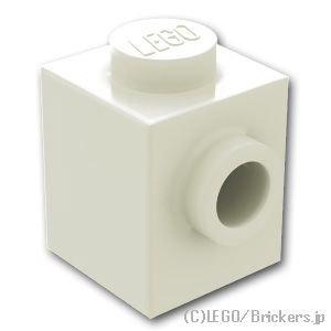 ブロック 1 x 1 - 1面スタッド:[White / ホワイト]