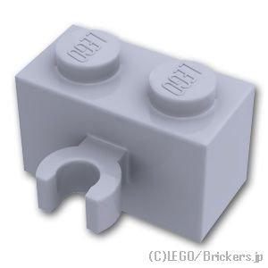 ブロック 1 x 2 - クリップ(垂直用):[Light Bluish Gray / グレー]