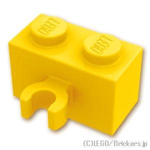 ブロック 1 x 2 - クリップ(垂直用):[Yellow / イエロー]