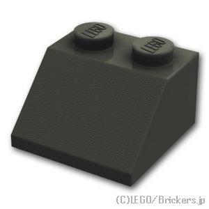 スロープ 45°- 2 x 2:[Black / ブラック]