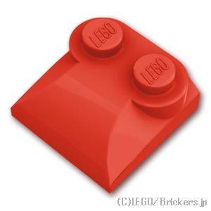 ブロック 2 x 2 x 2/3 - スロープ カーブ エンド:[Red / レッド]