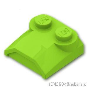 ブロック 2 x 2 x 2/3 - リップエンド:[Lime / ライム]