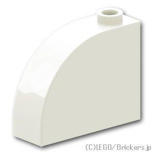 ブロック 1 x 3 x 2 - カーブトップ:[White / ホワイト]