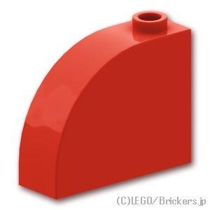 ブロック 1 x 3 x 2 - カーブトップ:[Red / レッド]