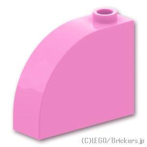 ブロック 1 x 3 x 2 - カーブトップ:[Bright Pink / ブライトピンク]