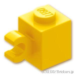 ブロック 1 x 1 - クリップ(水平用):[Yellow / イエロー]