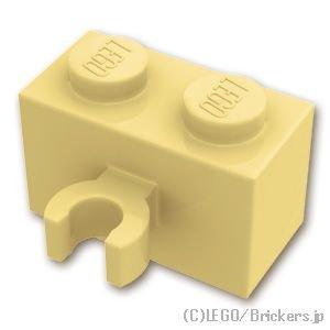 ブロック 1 x 2 - クリップ(垂直用):[Tan / タン]