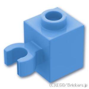 ブロック 1 x 1 - クリップ(垂直用) 凹スタッド:[Md,Blue / ミディアムブルー]