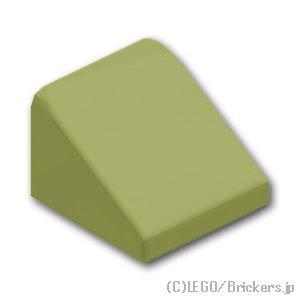 スロープ 30°- 1 x 1 x 2/3:[Olive Green / オリーブグリーン]