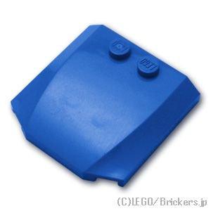 ウェッジ 4 x 4 x 2/3 - カーブ:[Blue / ブルー]