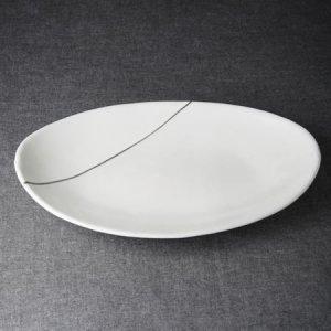 森修焼 一期一会シリーズ 楕円大皿