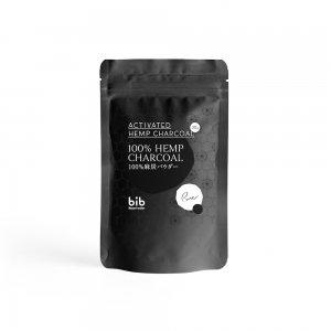 野州麻炭Lab 100% 麻炭パウダー チャコールクレンズ ヘンプ 炭 粉末 国産 無添加 食用グレード  70g