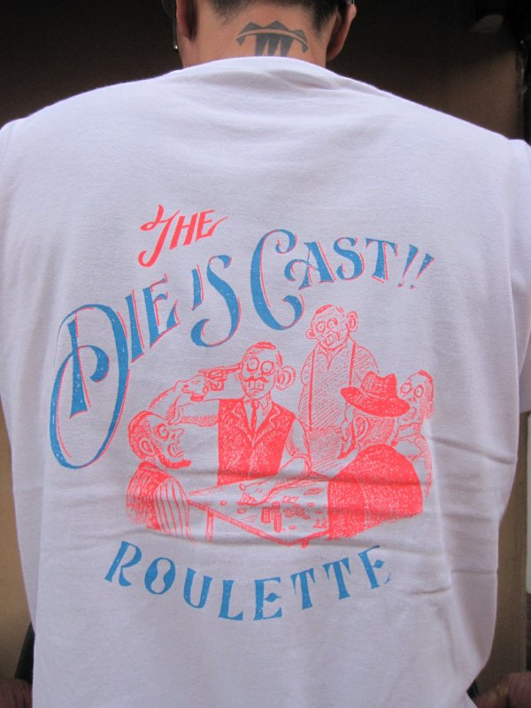【Roulette】Russian roulette Tee Neon Ver. by Fusty works (WHITE)